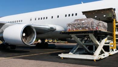 Beladung eines Flugzeuges mit zeitkritischen Waren distribuiert durch TECA